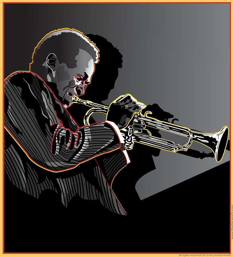 Miles Davis Digital Art - Miles Davis Legendary Jazz Musician by Larry Butterworth