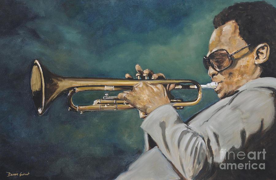 Miles Davis Painting - Miles Davis - Solo by Dwayne Glapion
