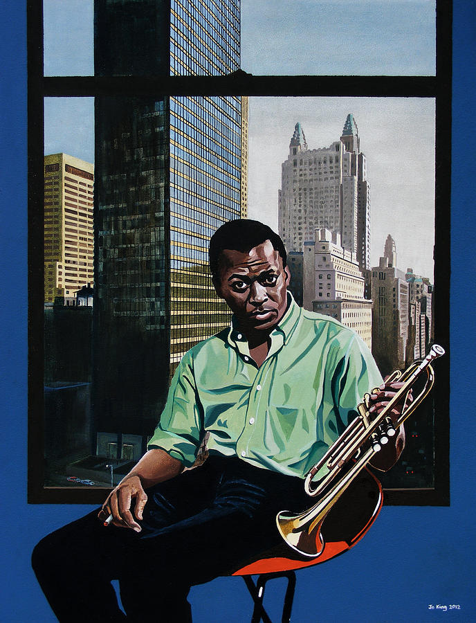 Celebrity Painting - Miles High - Miles Davis by Jo King