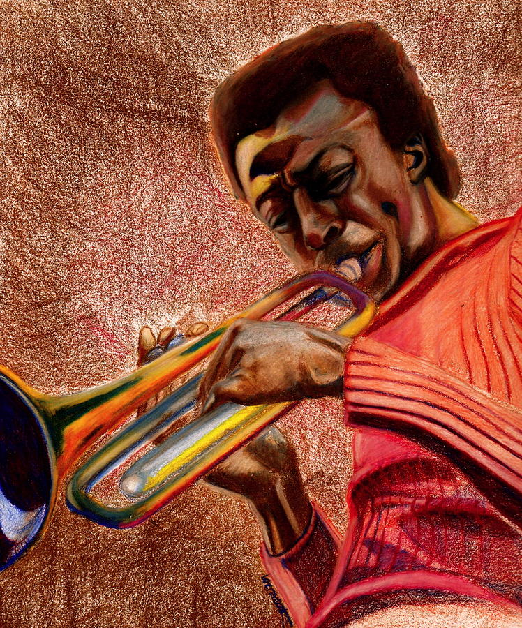 Miles Drawing - Miles In Color 3 by Dallas Roquemore