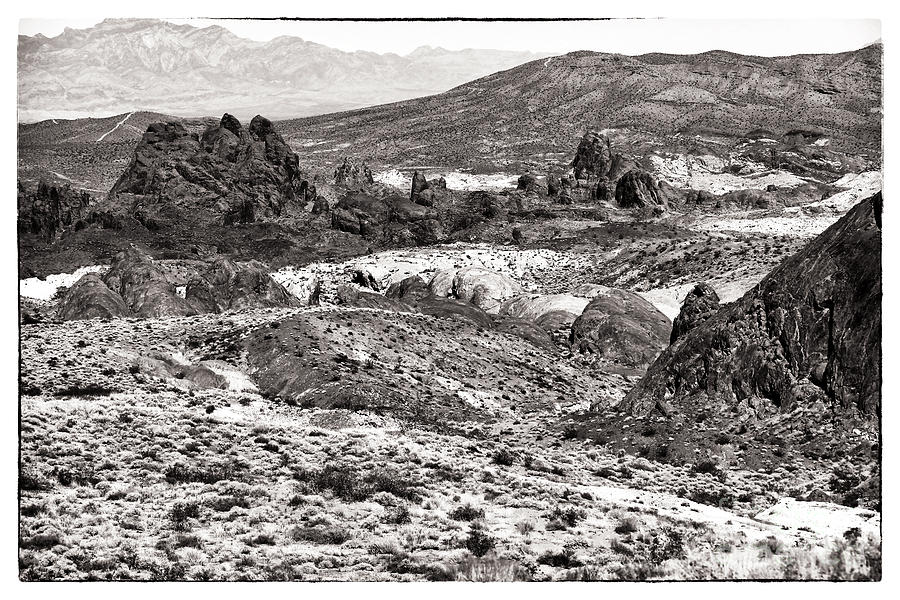 Sepia Photograph - Miles Of Mountains by John Rizzuto