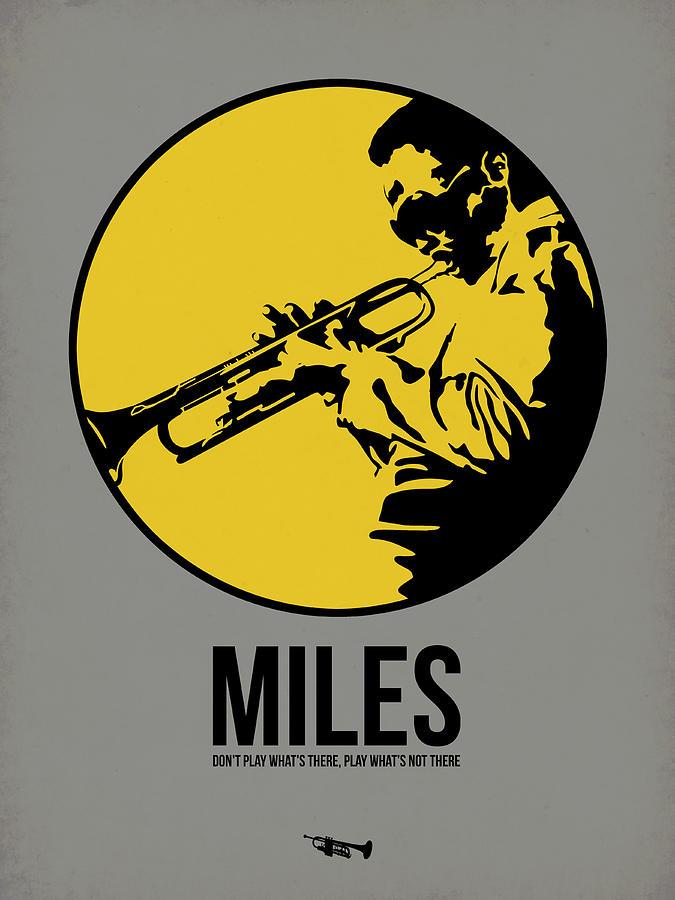 Music Digital Art - Miles Poster 3 by Naxart Studio