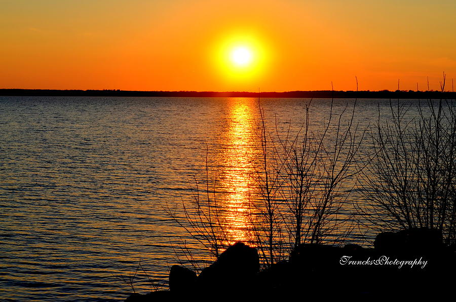 Milford Lake Sunset Photograph by Sherry Anns