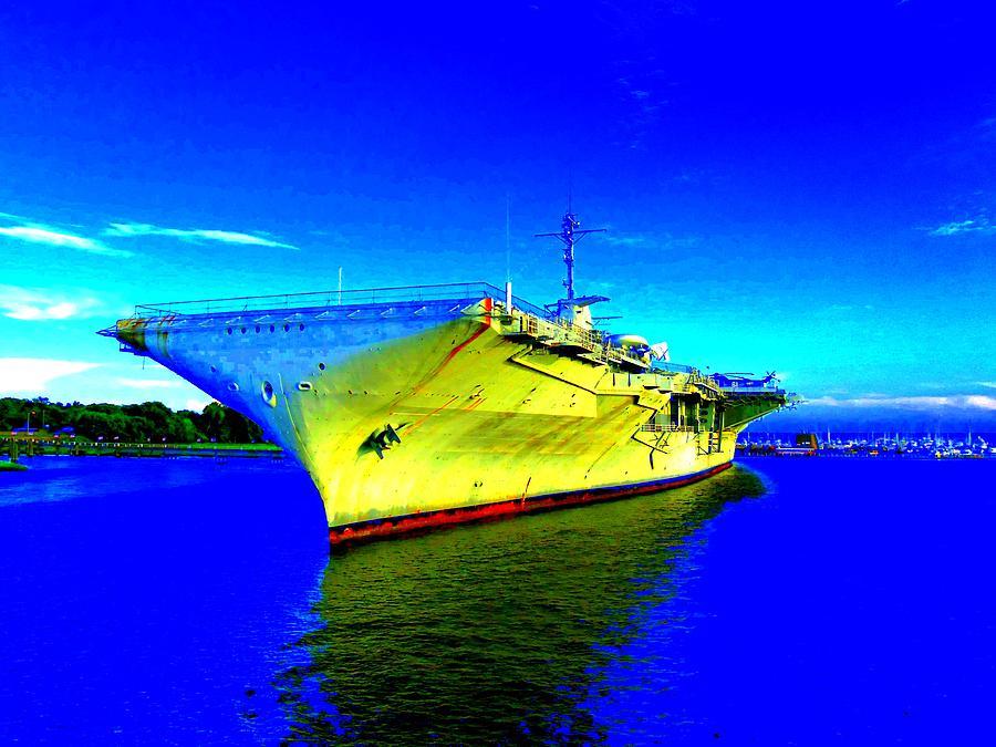Charleston Photograph - Military Ship 2 by Ron Kandt