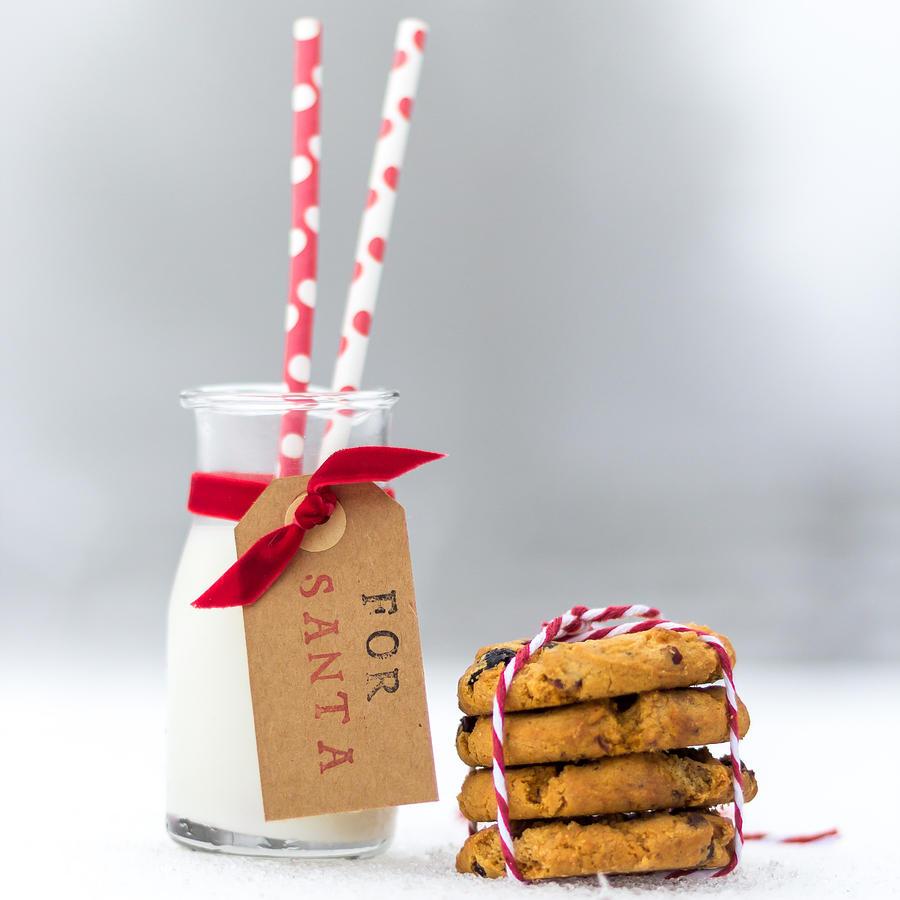 Milk And Cookies For Santa By Aldona Pivoriene