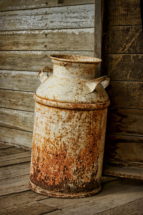 Antique Photograph - Milkcan by Nikolyn McDonald