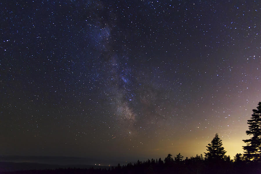 Milky Way Photograph - Milky Way And Light Pollution by David Gn
