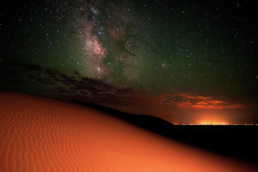 Milky Way Gold From Sand Dunes Colorado Photograph by Mike Berenson / Colorado Captures