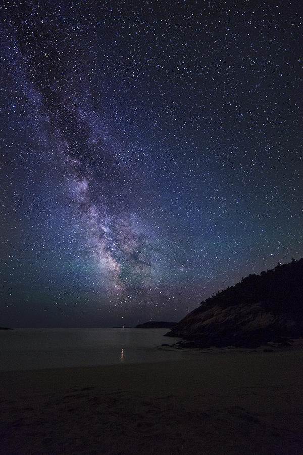 Milky Way Photograph - Milky Way On Sand Beach by Vinay Sinha