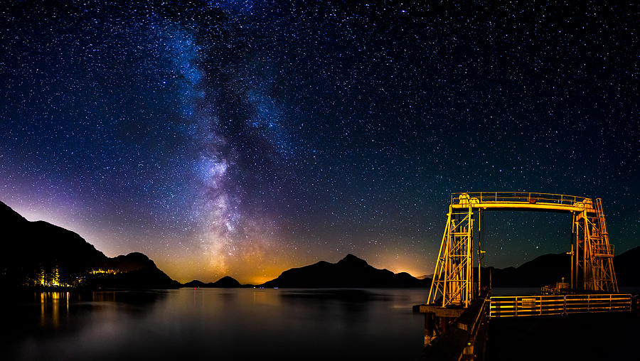 Milky Way Photograph - Milky Way Over Anvil Island by Alexis Birkill