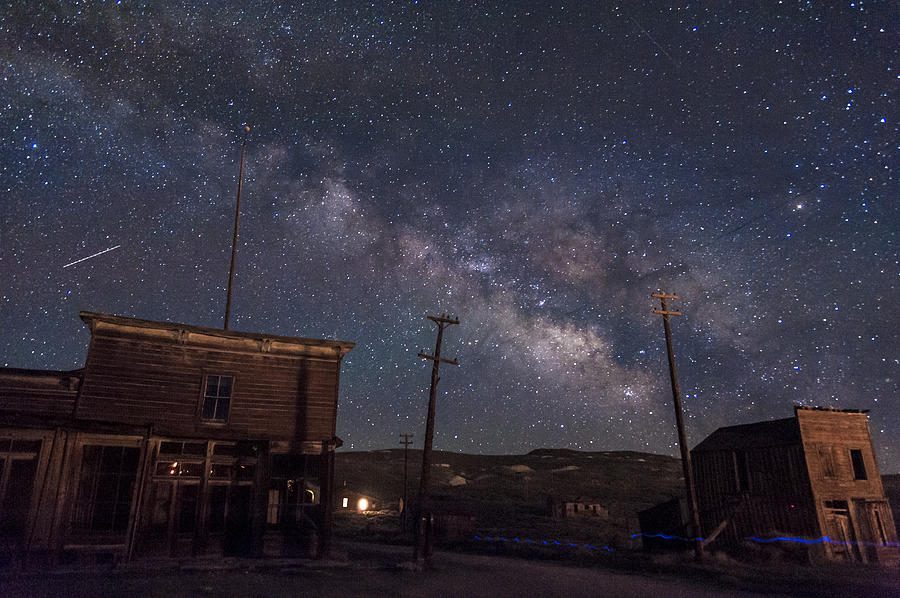 Bodie Photograph - Milky Way Over Bodie Hotels by Cat Connor