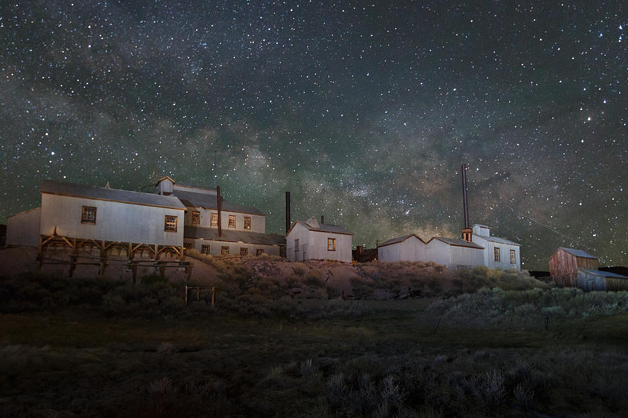 Bodie Photograph - Milky Way Over Standard Mill by Jeff Sullivan