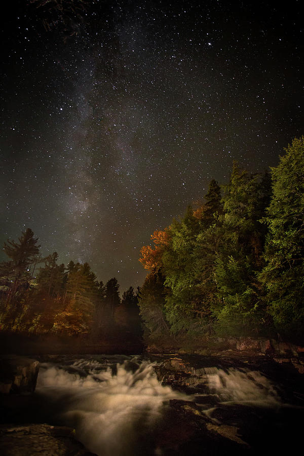 Milky Way Over The Adirondacks Photograph by Betty Wiley