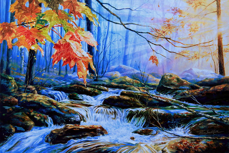 Mill Creek Autumn Sunrise Painting