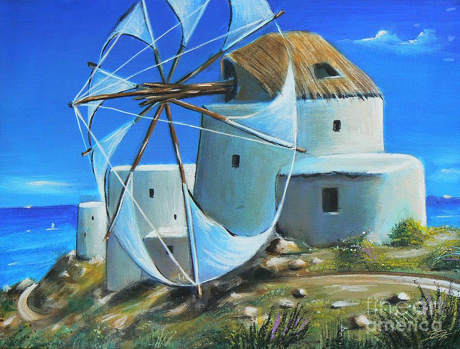 Blue Painting - Mill On The Hill by Artist ForYou