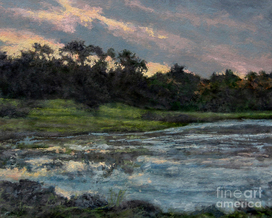 Mill Dam Painting - Mill Pond Reflection by Gregory Arnett