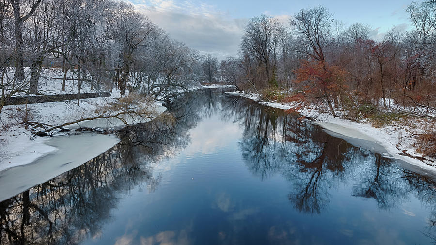 Mill River. New England Winter Scene Photograph by Enzo Figueres