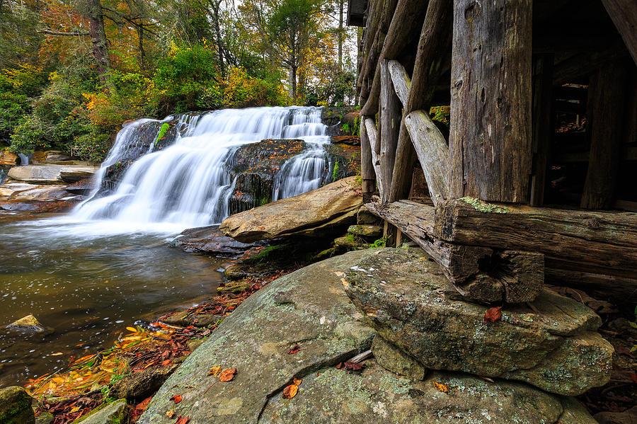 Waterfall Photograph - Mill Shoals Falls  by Walt  Baker