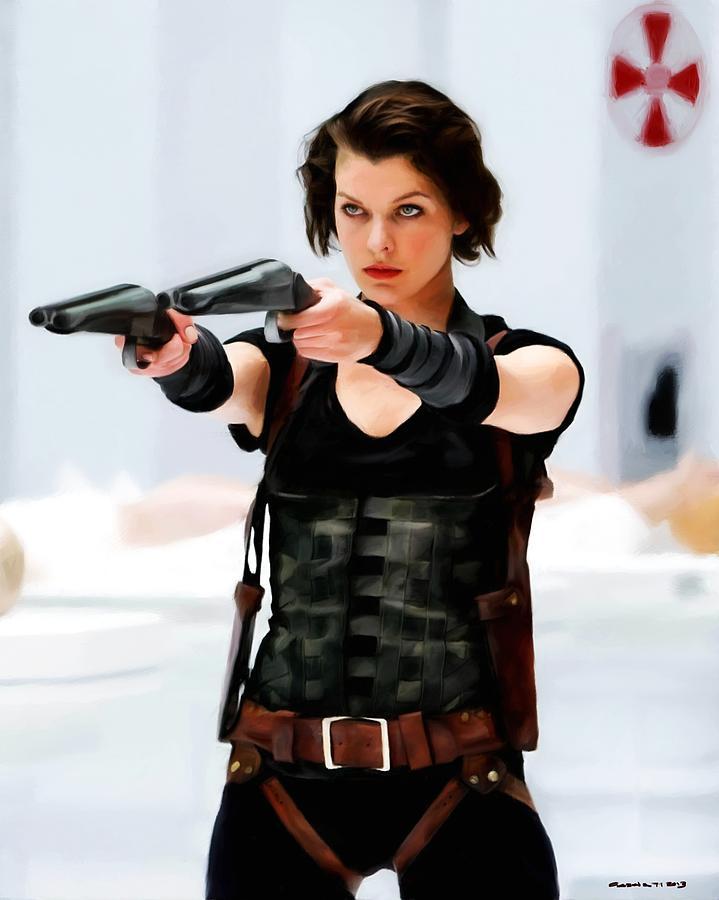 Milla Jovovich Digital Art - Milla Jovovich @ Resident Evil by Gabriel T Toro