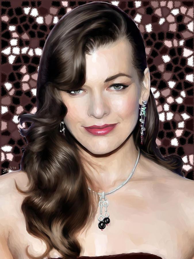 Milla Jovovich Painting - Milla Jovovich by Jennifer Hotai