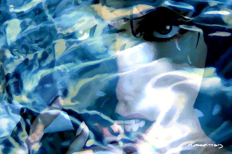 Milla Jovovich Digital Art - Milla Jovovich Portrait - Water Reflections Series by Gabriel T Toro