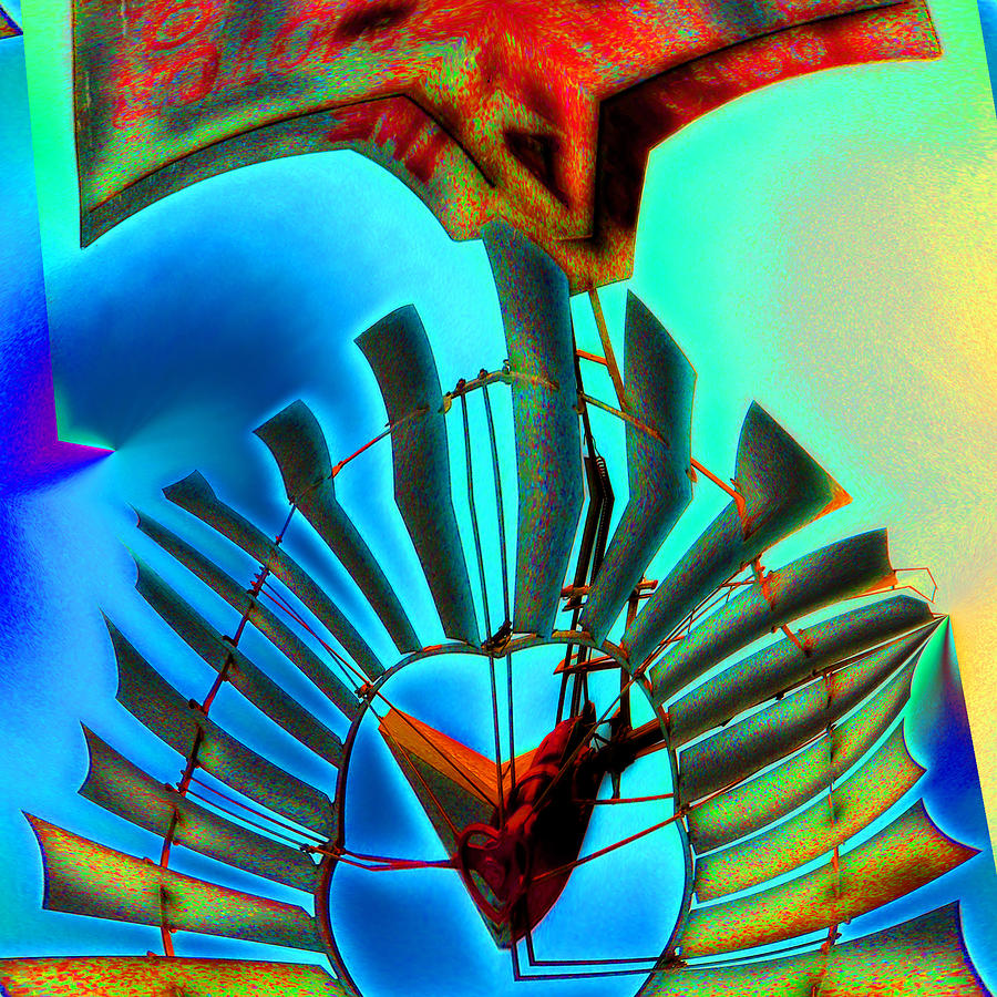Windmill Digital Art - Milled Heart by Wendy J St Christopher