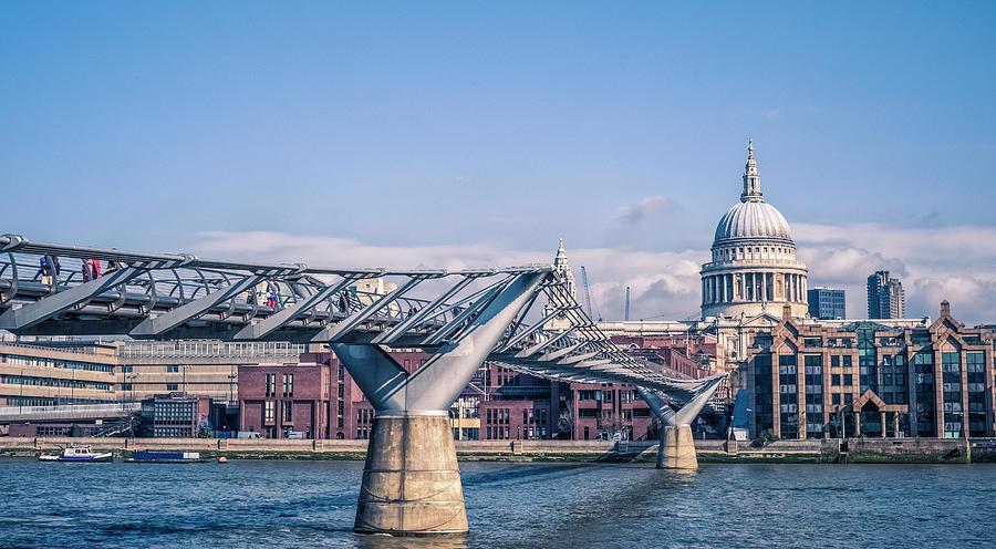 Millenium Bridge Against St Paul Photograph by Cirano83