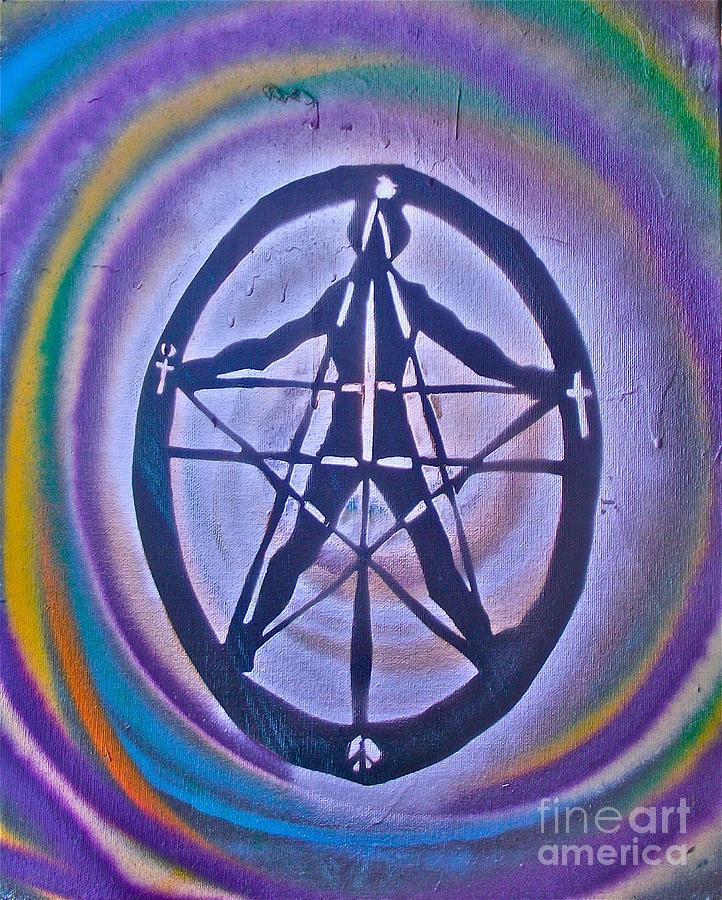 Graffiti Painting - Millenium Man 1 by Tony B Conscious