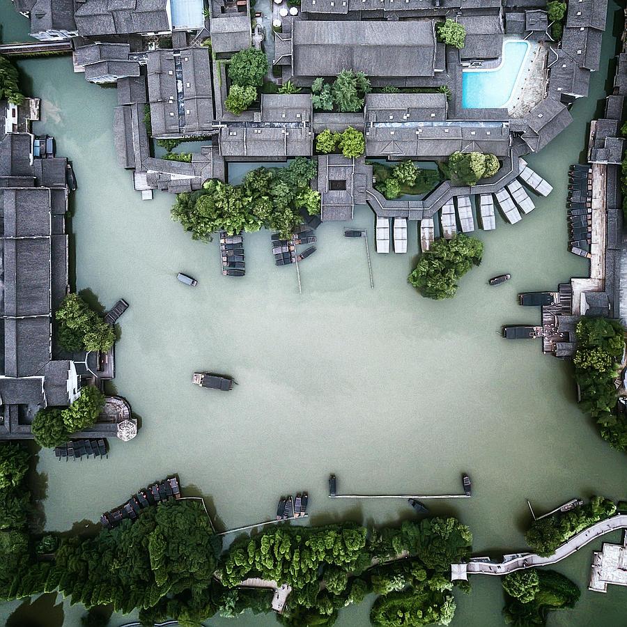 Aerial Photograph - Millennium Ancient Town by Zhou Chengzhou