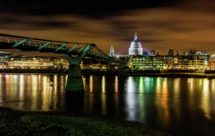 Millennium Bridge Photograph by Andrew Turner