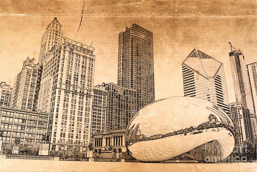 Chicago Bean Digital Art - Millennium Park Chicago by Dejan Jovanovic