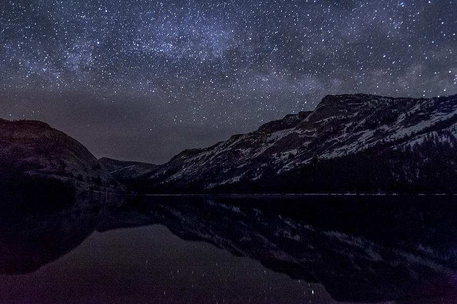 Lake Photograph - Millky Way Over Tenaya Lake by Cat Connor