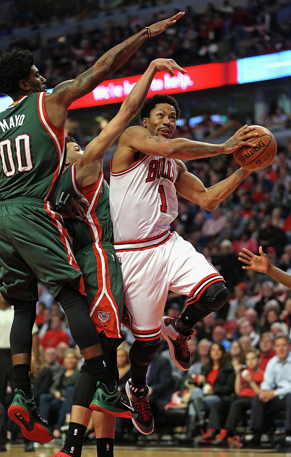 Milwaukee Bucks V Chicago Bulls - Game Photograph by Jonathan Daniel