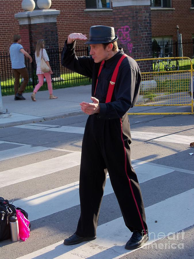 Streets Of Toronto Photograph - Mime Performer On The Street by Lingfai Leung