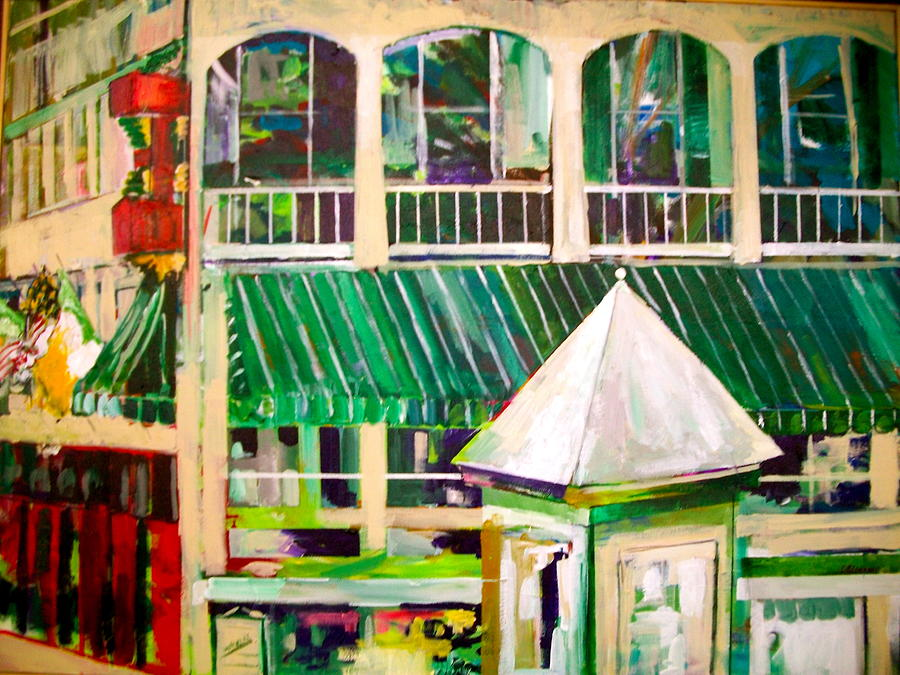 Architecture Painting - Mimihanes On Main by Carol Mangano