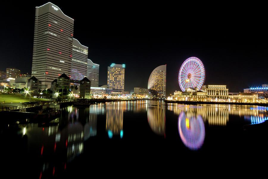 Minato Mirai 21 District Of Yokohama At Photograph by Tetsuya Aoki
