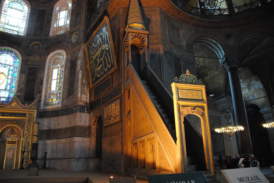 Hagia Sophia Photograph - Minbar Of Hagia Sophia by Jacqueline M Lewis