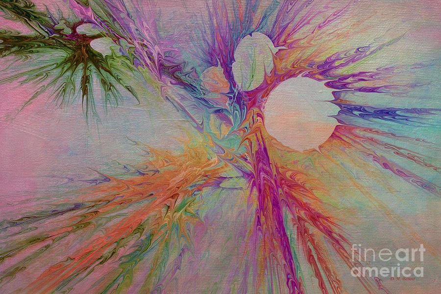 Abstract Digital Art - Mind Energy Aura by Deborah Benoit