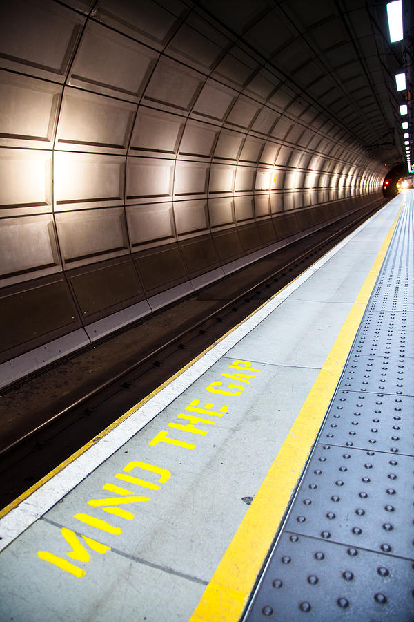 London Photograph - Mind The Gap by Adam Pender