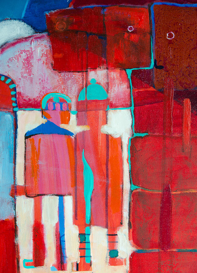 Abstract Painting - Minder by Jennifer Croom