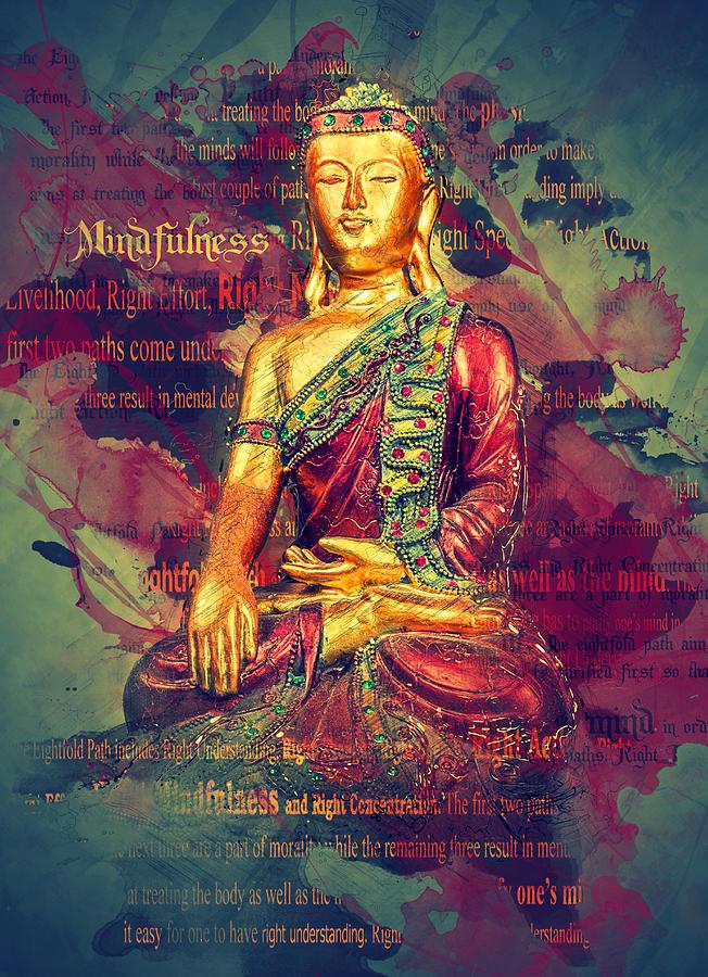 Mindfulness Buddha Photograph By Ray Van Gundy