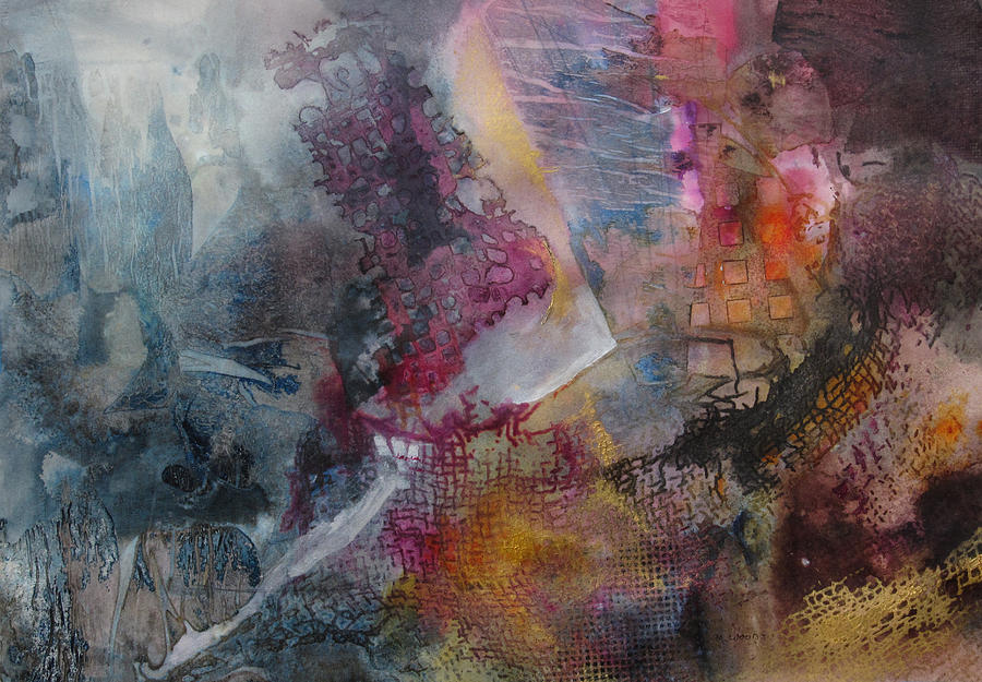 Abstract Painting - Mindscape by Marilyn Woods