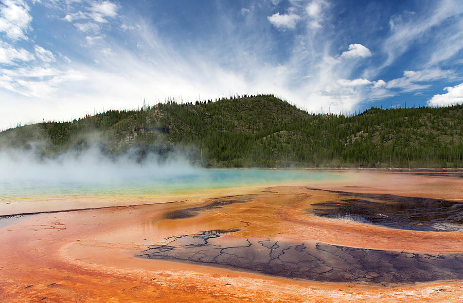 Mineral Pools Of Yellowstone Photograph by Gail Shotlander