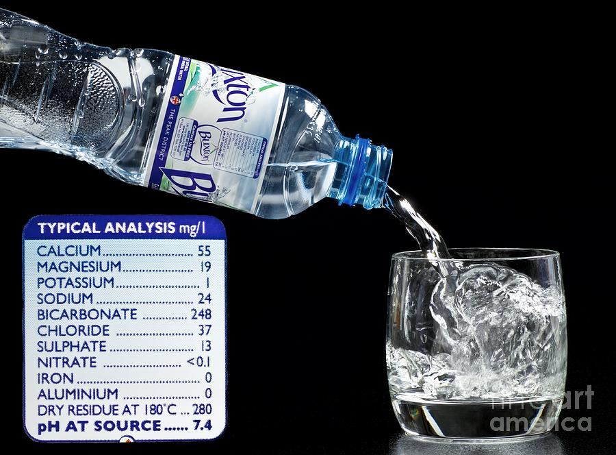 Natural Photograph - Mineral Water And Its Mineral Content by Martyn F. Chillmaid