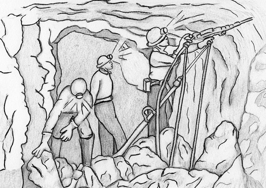 труд шахтеров рисунок профессионализмом можно