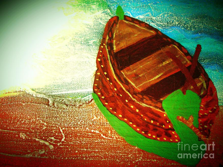Green Mixed Media - Mini Ark by Dori Meyers