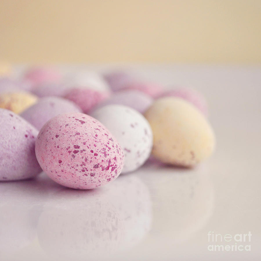 Eggs Photograph - Mini Easter Eggs by Lyn Randle