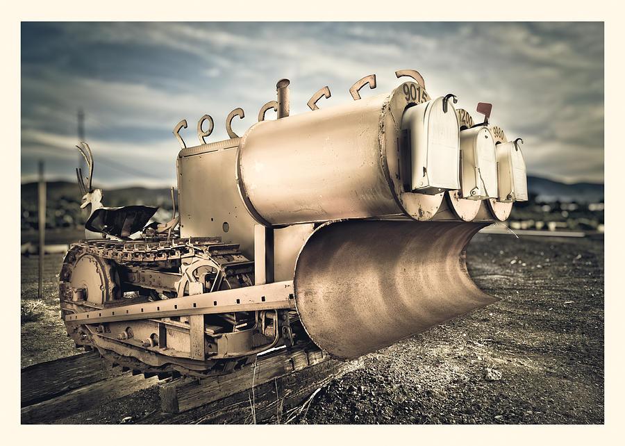 Bucket Photograph - Mini Excavator Mailbox by Yo Pedro