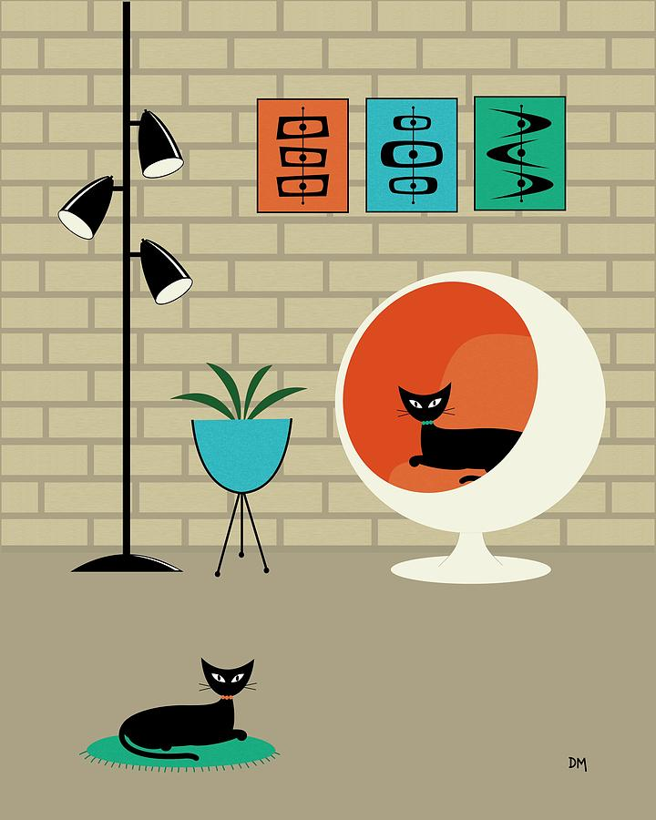 Mini Mid Century Shapes Digital Art By Donna Mibus