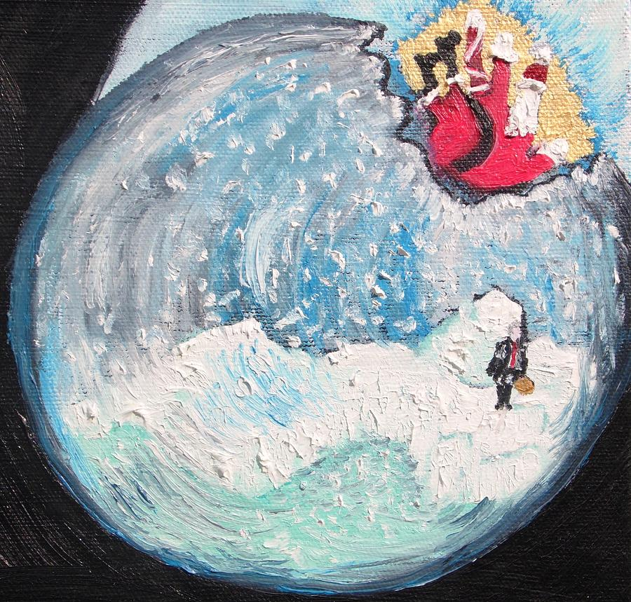Snow Globe Painting - Mini Snow Globe by Lisa Kramer